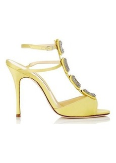 Manolo Blahnik Women's Suwny Sandals-Yellow Size 9.5