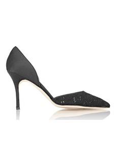 Manolo Blahnik Women's Tayler D'Orsay Pumps-BLACK Size 11