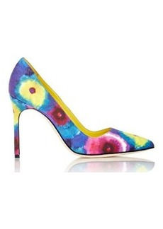 Manolo Blahnik Women's Tie-Dyed BB Pumps-NAVY Size 10.5