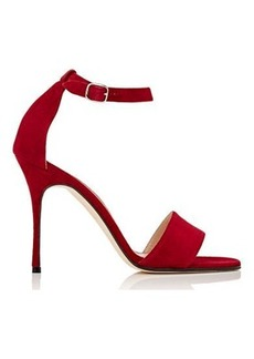 Manolo Blahnik Women's Tres Sandals-RED Size 8.5