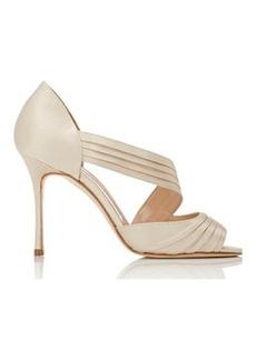 Manolo Blahnik Women's Treuil Asymmetric-Strap Sandals-BEIGE Size 11