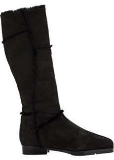 "Manolo Blahnik Women's ""True"" Knee Boots-BLACK Size 6.5"