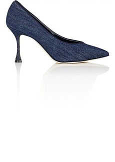 Manolo Blahnik Women's Urgenzapla Denim Pumps