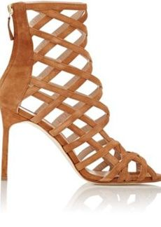 Manolo Blahnik Women's Vagibuzip Caged Booties