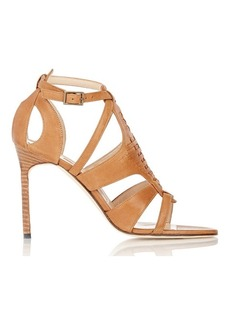 Manolo Blahnik Women's Woven-Detail Istria Sandals-BROWN Size 10