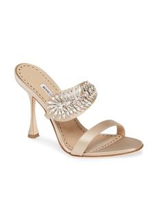 Manolo Blahnik Manolo Blanik Skysan Crystal Embellished Sandal (Women)