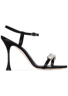 Manolo Blahnik crystal-embellished sandals