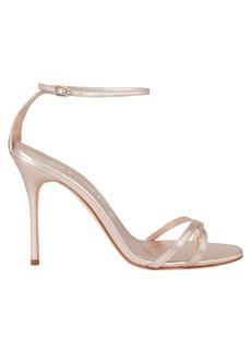 Manolo Blahnik Paloma Leather Stiletto Sandals