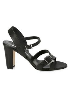 Manolo Blahnik Rioso Leather Sandals