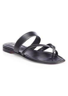 Manolo Blahnik Susa Leather Sandals