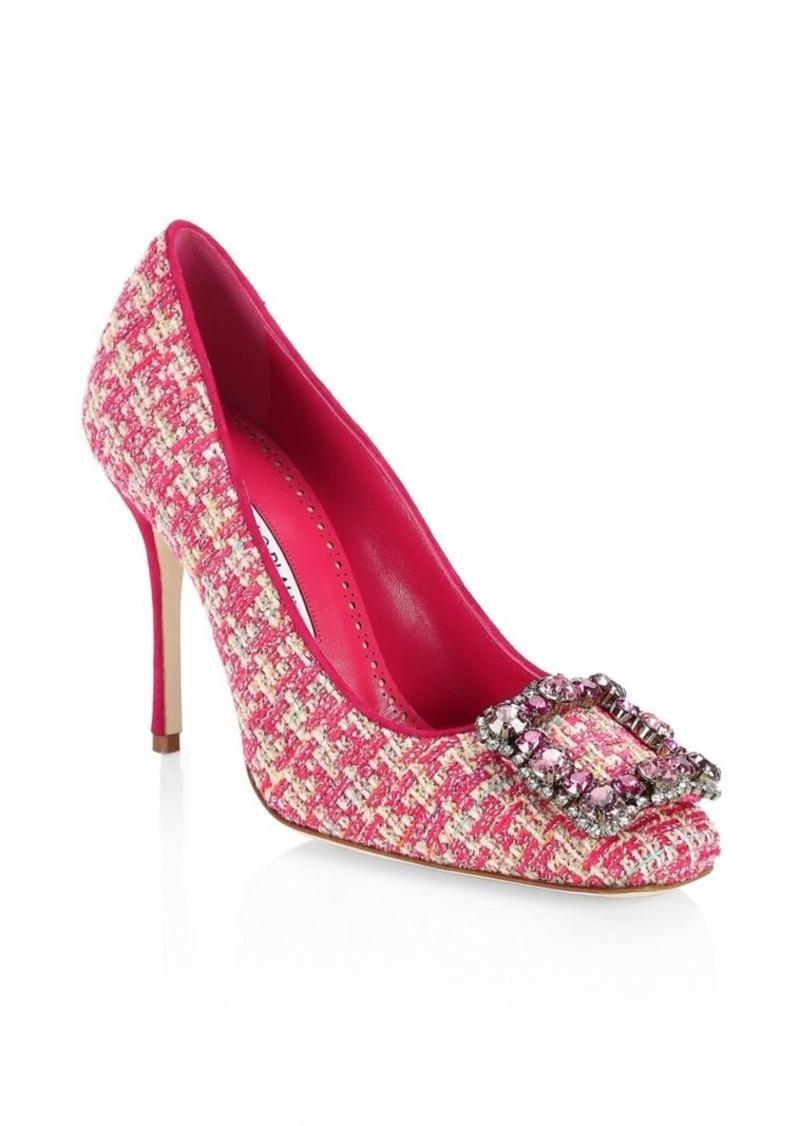 3e076f88 Manolo Blahnik Vazza 105 Tweed Pumps | Shoes