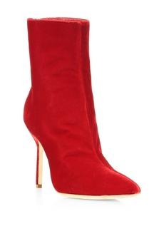 Manolo Blahnik Zarinanu Velvet Boots