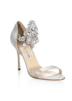 Zullinsan Embellished Satin Sandals