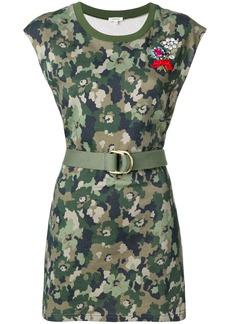 Manoush floral camo dress - Green