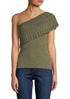 Manoush One-Shoulder Drape Top
