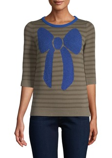 Manoush Striped Bow Sweater
