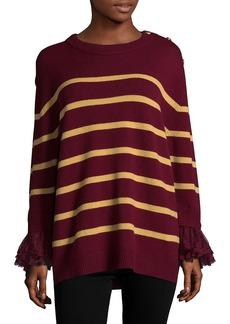Manoush Striped Merino Wool Blouse