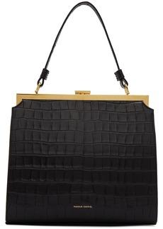 Mansur Gavriel Black Croc Elegant Bag