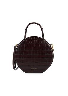 Mansur Gavriel Croc-Embossed Leather Circle Crossbody Bag