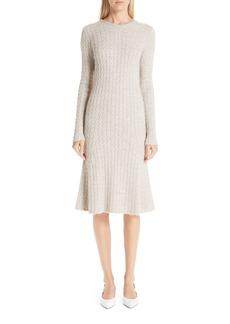 MANSUR GAVRIEL Alpaca & Silk Cable Knit Sweater Dress