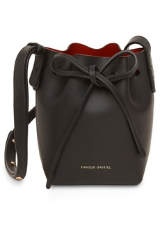 Mansur Gavriel Baby Leather Bucket Bag