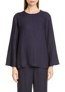 Mansur Gavriel Bell Sleeve Linen Blouse