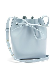 Mansur Gavriel Blue-lined Mini leather bucket bag