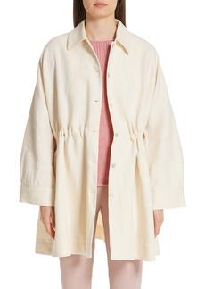 MANSUR GAVRIEL Cinched Heavy Linen Coat