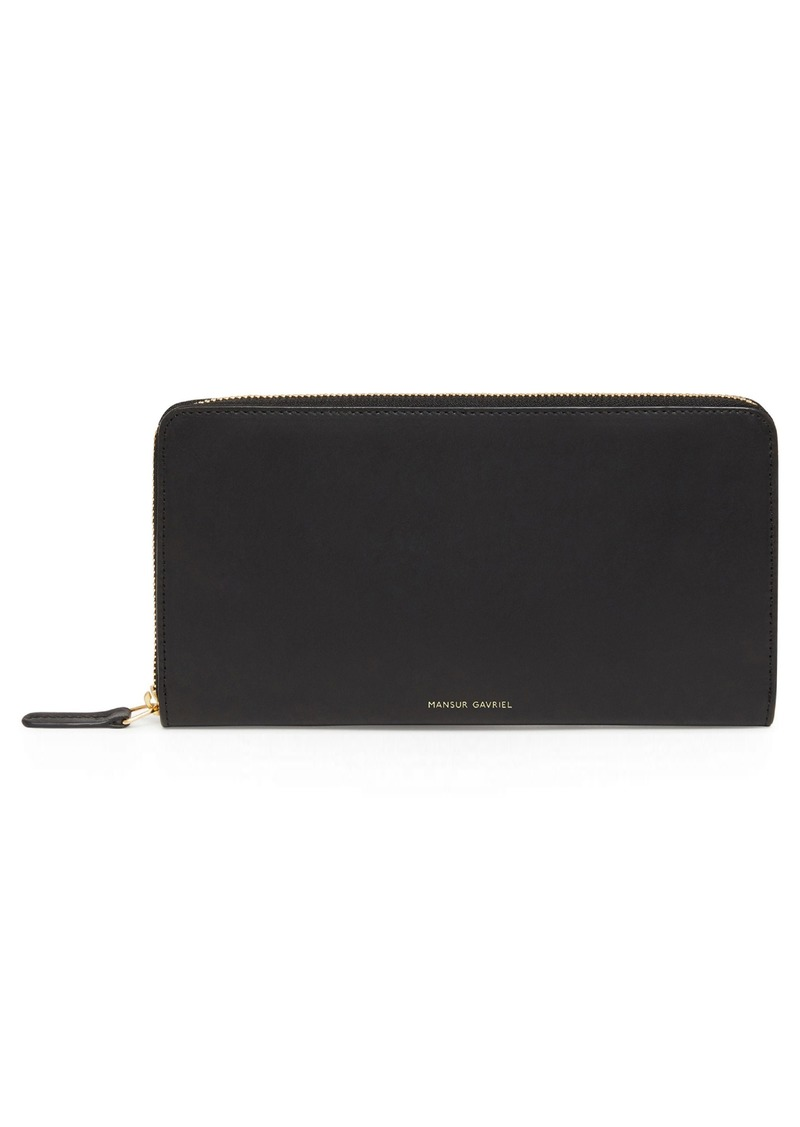 Mansur Gavriel Continental Zip Leather Wallet