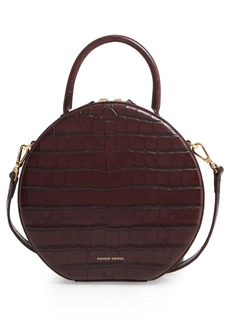 Mansur Gavriel Croc Embossed Leather Circle Crossbody Bag (Nordstrom Exclusive)