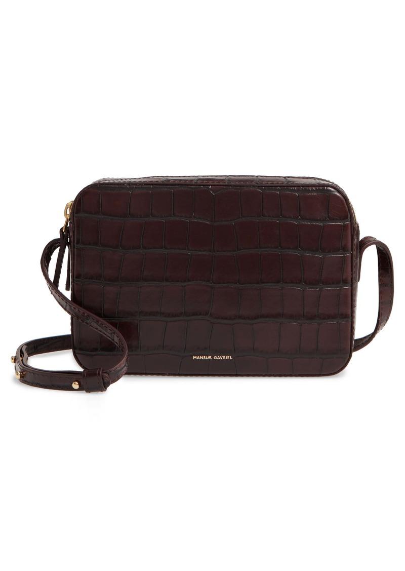 Mansur Gavriel Double Zip Leather Crossbody Bag