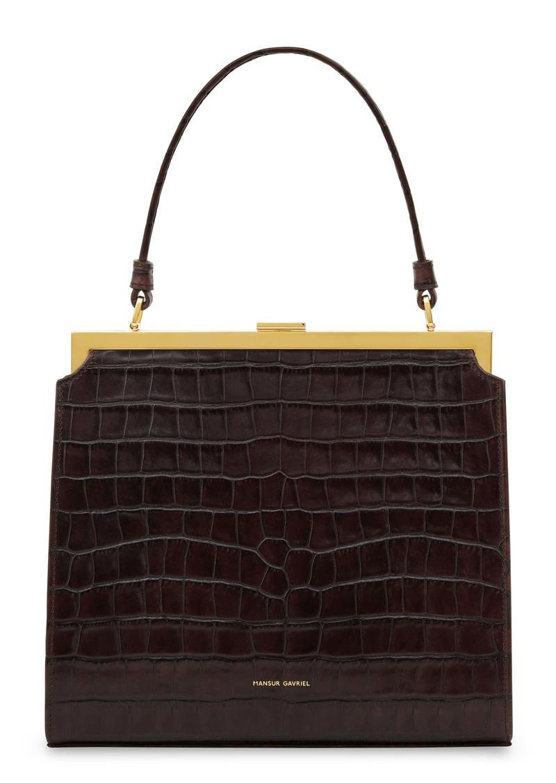 Mansur Gavriel Elegant Croc Embossed Leather Bag