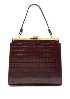 Mansur Gavriel Elegant crocodile-effect leather clutch bag