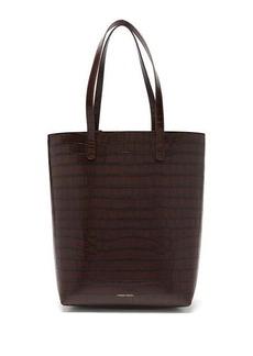 Mansur Gavriel Everyday crocodile-embossed leather tote bag