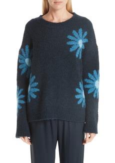 MANSUR GAVRIEL Floral Alpaca & Wool Blend Sweater