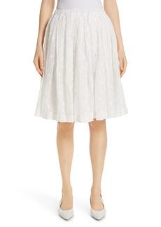 MANSUR GAVRIEL Floral Embroidered Linen Blend Skirt