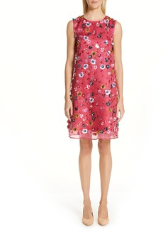 MANSUR GAVRIEL Floral Sequin Silk Shift Dress