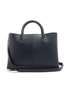 Mansur Gavriel Folded navy-lined leather bag