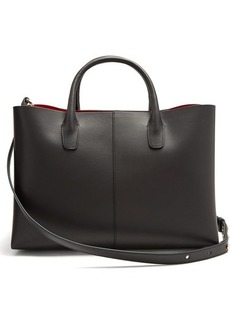 Mansur Gavriel Folded red-lined leather bag