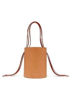 Mansur Gavriel Fringe pink-lined leather bucket bag