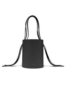 Mansur Gavriel Fringe red-lined leather bucket bag