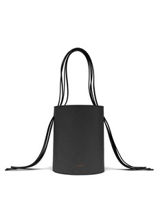 Mansur Gavriel Fringe red-lined leather bucket bag