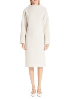 MANSUR GAVRIEL Funnel Neck Double Face Cashmere Sweater Dress