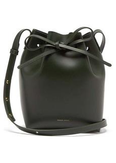 Mansur Gavriel Green-lined Mini leather bucket bag