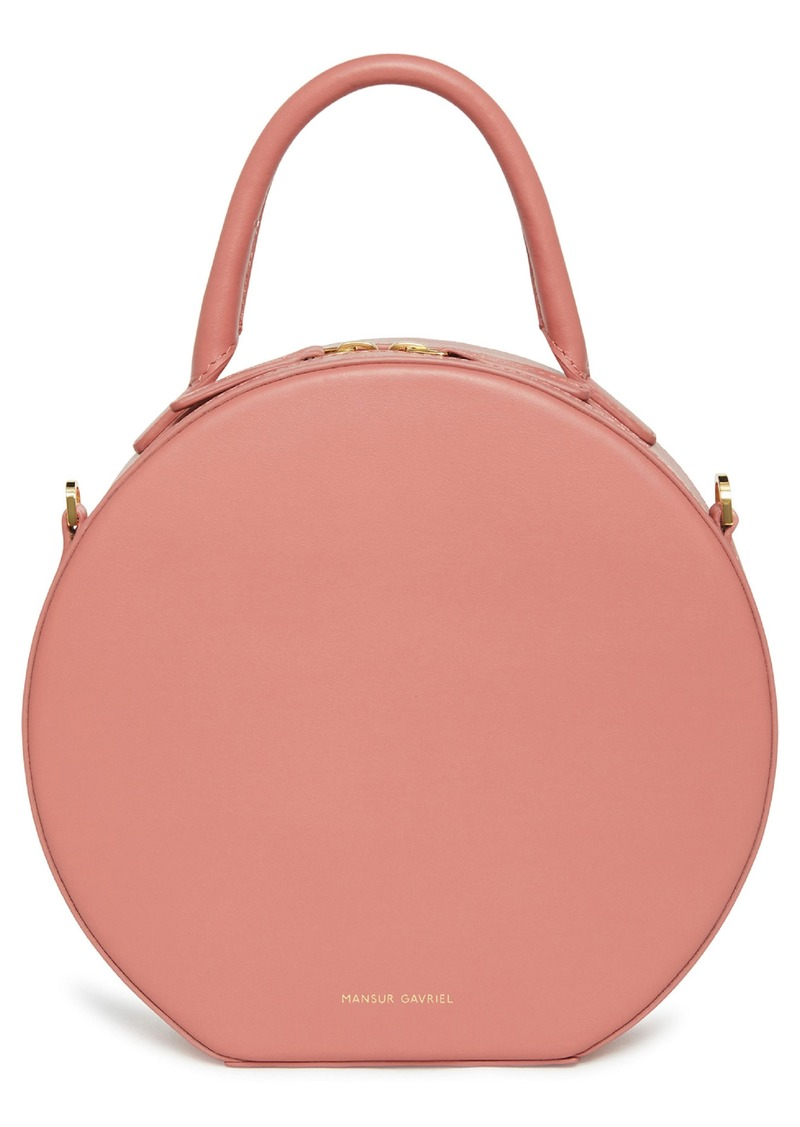 Mansur Gavriel Calfskin Leather Circle Crossbody Bag