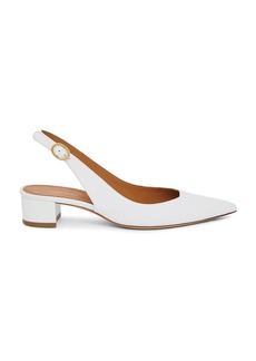 Mansur Gavriel Leather Slingback Heels