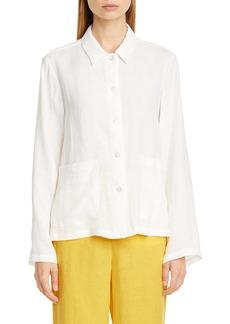 Mansur Gavriel Linen Worker Shirt