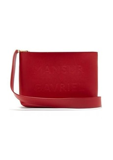 Mansur Gavriel Logo-debossed leather cross-body bag