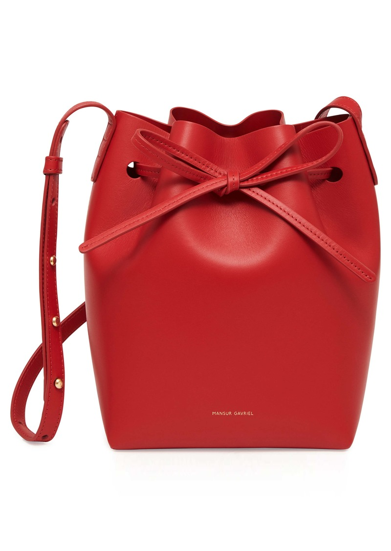Mansur Gavriel Mini Calfskin Leather Bucket Bag