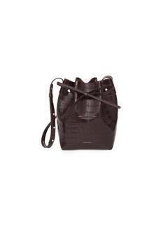 Mansur Gavriel Mini Crocodile-Embossed Bucket Bag